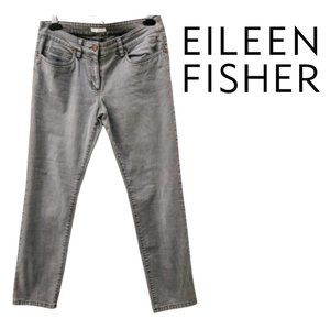 Eileen Fisher Organic Cropped grey skinny jeans 8